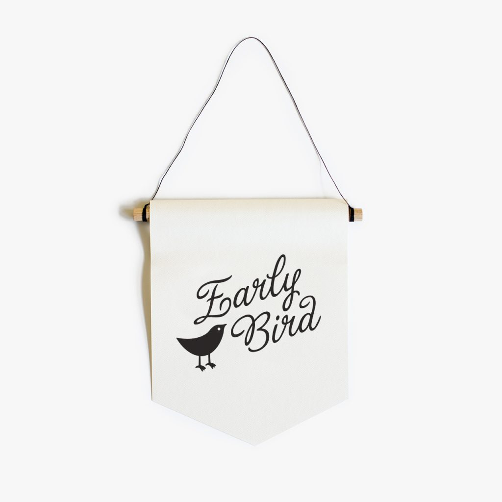 early bird paper flag
