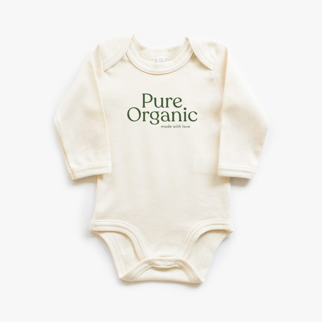 organic baby bodysuit long sleeve